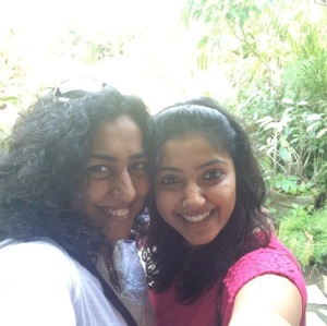 Selfie time with Sindhu, my foodie co-conspirator, in the beautiful lawns of Amethyst :)