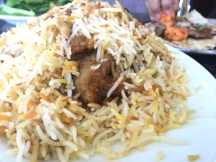The Biryani at Lebanese Flower - wholesome, aromatic and full of dried fruits and nuts!